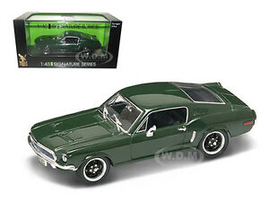 1968 FORD MUSTANG GT GREEN 1/43 DIECAST CAR MODEL BY ROAD SIGNATURE 43207