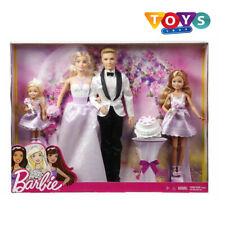 Barbie Dolls Wedding Set Ken Stacie Chelsea Figures Bride Groom Girls Playset Uk