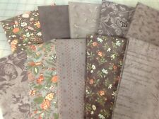 Moda 3 Sisters Quill Fat Quarter Fabric Bundle in Mauve