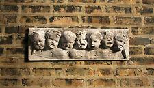 Seven Notes Singing Children Wall Plaque Garden Sculpture Art Decor -Faux Stone
