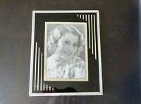 Art Deco Reverse Painting Frame Glass Vintage Mid Century Jeanette MacDonald