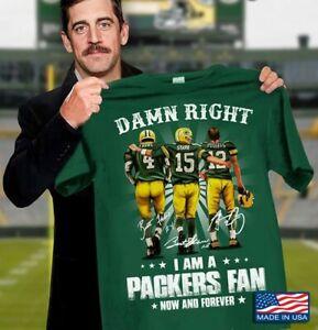 Green Bay Packers T-Shirt NFL Football Team Funny Green Vintage Gift Men Women