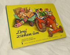 Drei ziehen um_altes Bilderbuch Jos.Scholz Mainz Verlag Gisela Voh Jakob Lorey