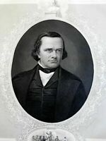 Stephen A. Douglas United States Senator 1860's Virtue Civil War era portrait