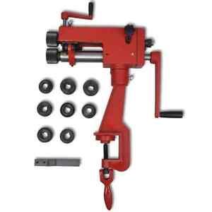 vidaXL Tube Beading Machine Manually Cast Iron Workbench Pipe Bead Form Tool