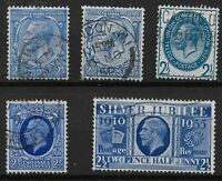 KGV-2&1/2d.Blue: Simple+Block Cypher Wmks., PUC, 'Photo' & S.Jubilee. Ref.08157