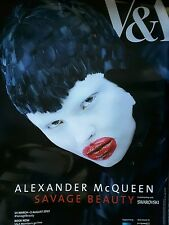 NEW Alexander McQueen Savage Beauty Official Exhibition Poster V&A London 2015
