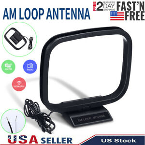 NEW AM FM Loop Antenna Aerial Connector for Stereo Audio Receiver System Indoor