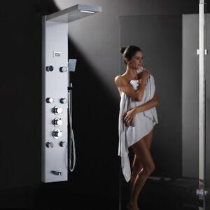 Shower Panel Shower column Set Solid Brass Rainfall Shower Head Hand Sprayer Tap