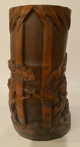 Vintage Chinese Bamboo Root Hand Carved Decoration Bamboo Forest