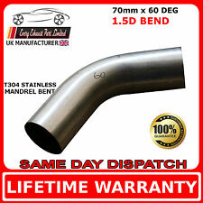 70mm x 60 Degree Mandrel Exhaust Bend T304 Stainless Steel 1.5D 1.5mm Wall