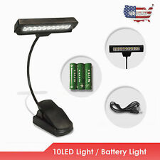 Pro Flexible USB/ Battery Power 10 LED Light Clip-on Bed/ Table/ Desk Lamp