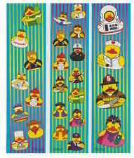 """12 ( 1.75"""" x 7"""" ) Sheets Ducky Stickers"""