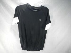 Bontrager Full Zip Cycling Jersey Mens Size Large L Black Bicycle Shirt