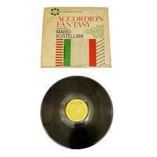 Mario Kostellani – Accordion Fantasy Featuring Mario Kostellani LP Vinyl VG #4