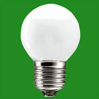 10x 60W Opal Round Golf Ball Dimmable ES E27 Edison Screw Light Bulb Lamp