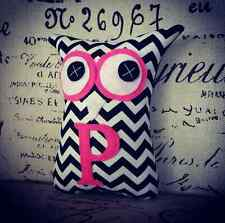 ❤️Personalised Letter Owl Softies ❤️18cm Owls | Chevron | Baby | Girls | Gifts