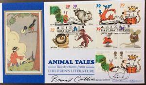BERNARD CRIBBINS, TV Railway Children, Dr Who, Signed 2006 Animal Tales FDC + US