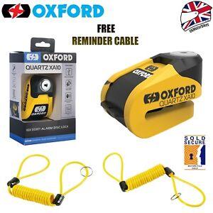 Oxford Quartz Alarm XA10 (10mm) Motorcycle Motorbike Disc Lock Pin Yellow/Black+