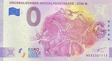 BILLET 0 EURO GROSSGLOCKNER HOCHALPENSTRASSE  AUTRICHE 2021 NUMERO DIVERS