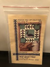Wild Goose Chase Gray Goose 18 Inch Folk Art Quilt Wall Hanging Pattern #808