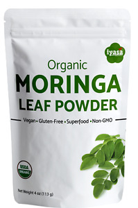 Moringa Powder Certfied Organic Moringa Oleifera 4 8 16 oz 1 lb Vegan Superfood