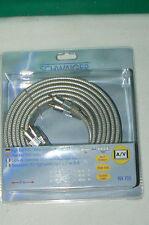 SCHWAIGER qualité allemande câble YUV / video RCA 3x CINCH High End 5 mètres