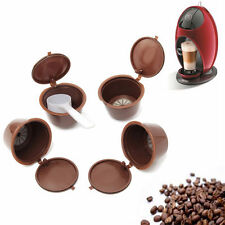 4Pcs Coffee Capsules +1Pc Spoon Refillable Pods K-cups For Nescafe Dolce Gusto