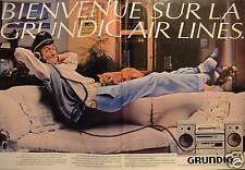 PUBLICITÉ DE PRESSE 1981 GRUNDIG AIR LINES MINI CHAINES - ADVERTISING
