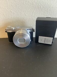 Nikon 1 J5 20.8MP Digital Camera - Silver with 10-30mm Lens