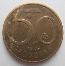 AUSTRIA 50 GROSCHEN 1964