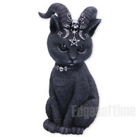 PAWZUPH HORNED OCCULT CAT FIGURINE ORNAMENT WITCH MAGIC SPELL PAGAN GOTHIC 11CM