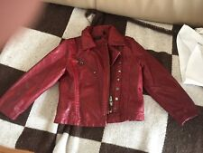 IKKS WILD PRINCESS MOTORCYCLE STUDDED PLEATHER  JACKET BNWOT 2T 24 MONTHS