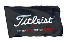 Titleist Flag Banner 3x5 ft Golf Equipment Apparel Wall Garage Black