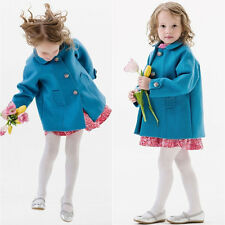 Elegant Baby Kids Girls Winter Warm Bowknot Trench Coat Jacket Outerwear 1~6T