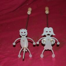 Pair Stainless Steel Hot Dog Marshmallow Roaster Camp Fire Skewer Stick Adult
