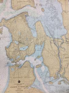 NAUTICAL CHART 18427 Anacortes to Skagit Bay, Puget Sound, SAIL KAYAK WALLPAPER