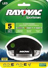 (1) Rayovac Sportsman 5-LED Blood Tracking Hat Clip Light w/ Batteries SPCLPBT-B