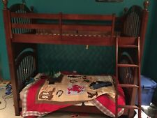 Bunk Beds - Twin over Twin BunkBed Cherry (Bought from Raymour and Flanigan)