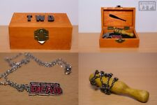 THE WALKING DEAD logo pendant collana Box Inspired Lucille Negan Baseball Bat