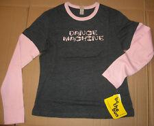 NWT BE THE BUN MOTIONWEAR Long Sleeve T shirt Charcoal Pink DANCE MACHINE Large