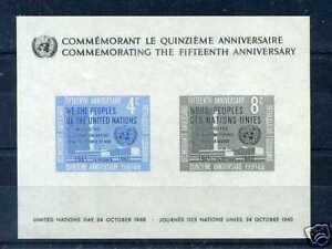 NATIONS UNIES -  New York - 1960, BF 2 - neuf**