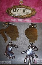 My Life One Charm at a Time Charms by Amy Labbe Boy Girl Profile Face Hand Foot