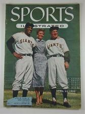 SPORTS ILLUSTRATED MAGAZINE APR 1955 WILLIE MAYS TOPPS BASEBALL CARDS