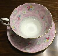 Scarce PARAGON Cup & Saucer Pink Roses Evangeline exclusive  Simpson's Montreal