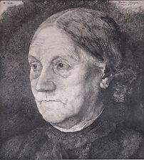 Photogravure d'après Wilhelm Leibl : PORTRAIT DE MA MERE -