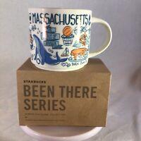 Starbucks Coffee Been There Series Mug MASSACHUSETTS Cup 14 oz NIB & w/SKU