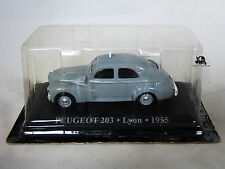 Miniature IXO Véhicule Altaya Taxi du Monde Peugeot 203 Lyon 1955 Diecast