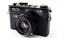 Minolta HI MATIC E Film Camera ROKKOR-QF F1.7 40mm [Excellent+] From Japan [551]