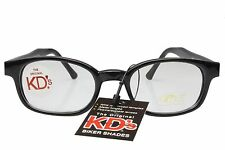 KD's Sunglasses Original Biker Shades Motorcycle Black Clear Lens 2015